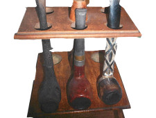 10 - pipe stand on white