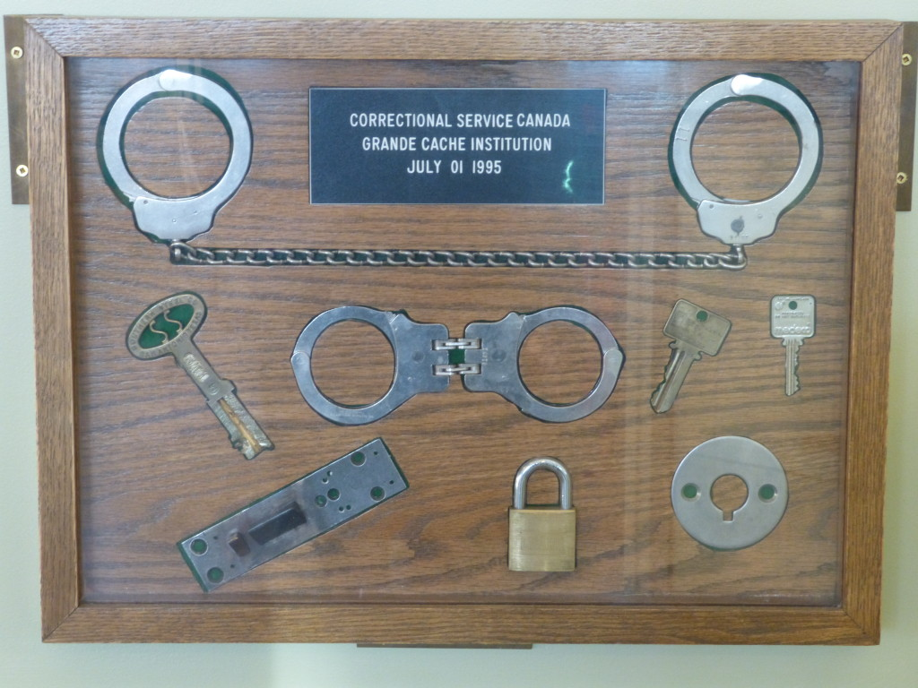 139 - Display of shackles and handcuffs from GC Institution